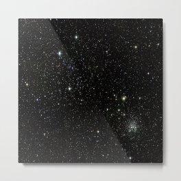 Space - Stars - Starry Night - Black - Universe - Deep Space Metal Print