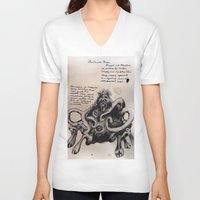 lovecraft V-neck T-shirts featuring Lovecraft Series:  Dunwich Horror by Furry Turtle Creations