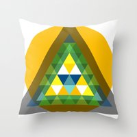 agents of shield Throw Pillows featuring shield by pixel.pwn | AK