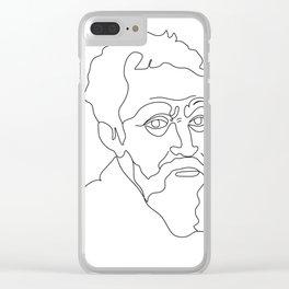 Portrait of Michelangelo Clear iPhone Case