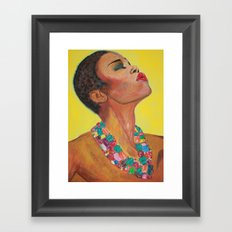 Sun Girl Framed Art Print