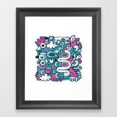 ABSTRACT 0016 Framed Art Print