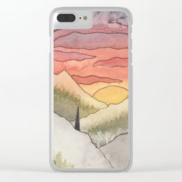 Rusty Light on the Pines Clear iPhone Case
