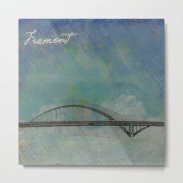 Fremont Bridge Metal Print