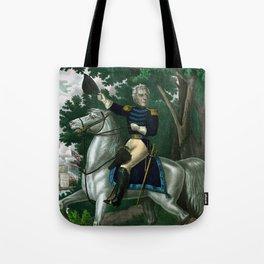Andrew Jackson On Horseback Tote Bag