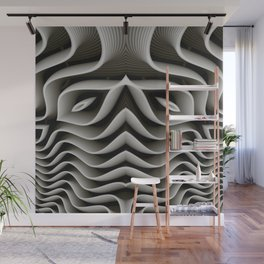 Exo-skelton 3D Optical Illusion Wall Mural