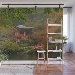 Hidden Japanese Temple Wall Mural