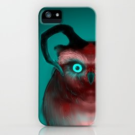 Red Neon Owl iPhone Case
