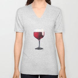Wine Glass Unisex V-Neck