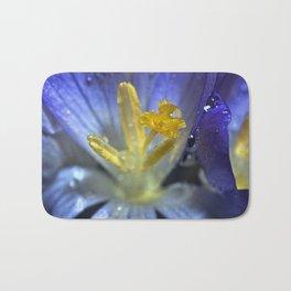 Blue and yellow flower Bath Mat