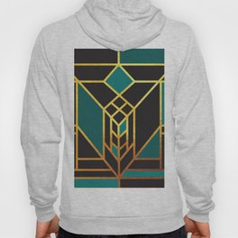 Art Deco Leaving A Puzzle In Turquoise Hoody