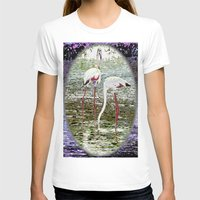 flamingos T-shirts featuring Flamingos by CrismanArt