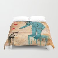 will graham Duvet Covers featuring GRAHAM CRACKERS by RAGING BUNNIES