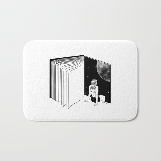 Reading is Dreaming with Your Eyes Open Bath Mat