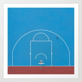 From Above —Basketball Court Art Print