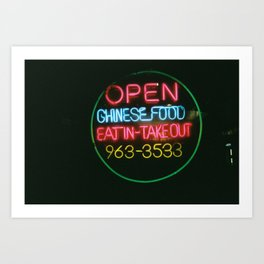 Eat In Take Out Art Print