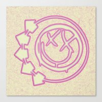 blink 182 Canvas Prints featuring Blink 182 by Beastie Toyz