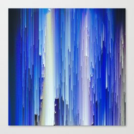 Frozen blue waterfall abstract digital painting Canvas Print