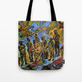 African American Masterpiece 'Can Fire in the Park' by Beauford Delaney Tote Bag