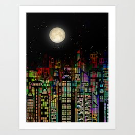Fairytale City Art Print