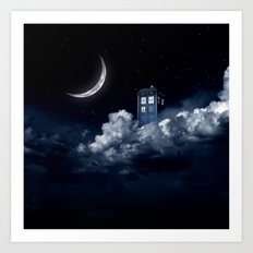 tardis up Art Print