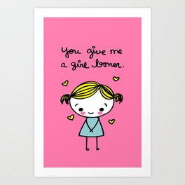 Girl Boner Art Print