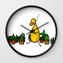 Surrounded by Succulents Wall Clock