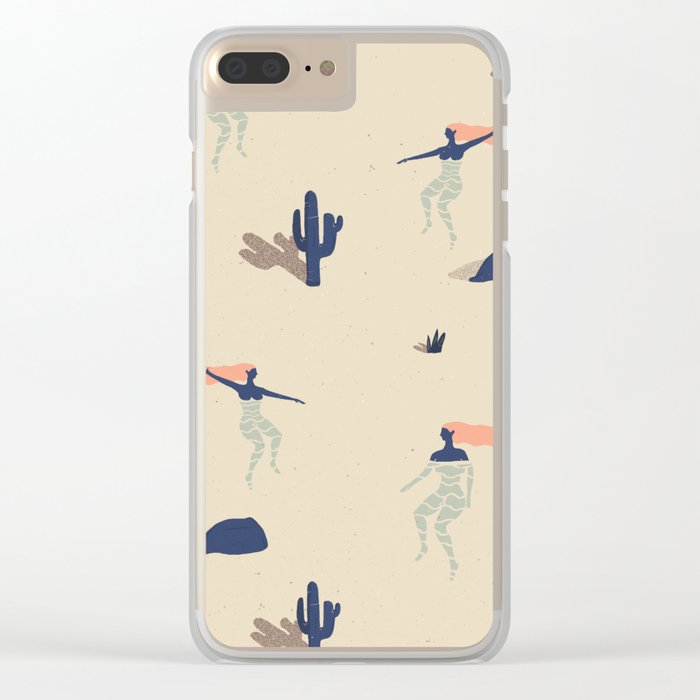Dezert swim Clear iPhone Case