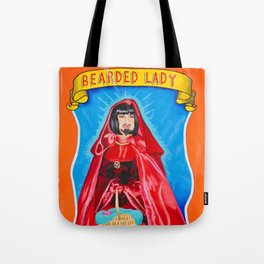 Bearded Lady Sideshow Banner Tote Bag