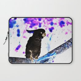 Ink Spots of the Black Feathered Cockatoo Laptop Sleeve