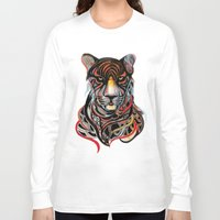 tiger Long Sleeve T-shirts featuring Tiger by Felicia Cirstea