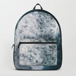 Oceanscape - White and Blue Backpack