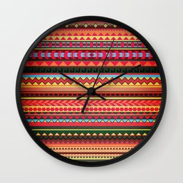 Bulgarian Rhapsody Pattern Wall Clock