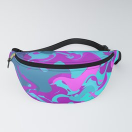Pink, Purple, and Blue Waves Fanny Pack