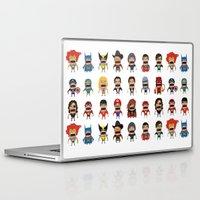 heroes Laptop & iPad Skins featuring Screaming Heroes by That Design Bastard
