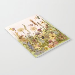 Pink Garden mirrored Notebook
