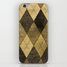 Wooden big diamond iPhone & iPod Skin