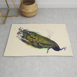 Vintage Peacock Rug