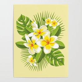 Tropical Bouquet. Plumeria Poster