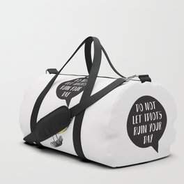 Yellow Bird Canary Funny Motivational Quote Duffle Bag