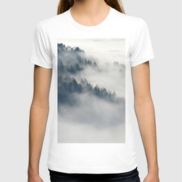 Mountain Fog and Forest Photo T-shirt