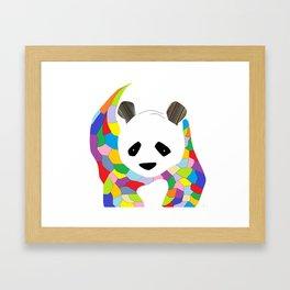 Patchwork Panda Framed Art Print