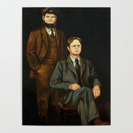Dwight And Mose Painting Photographic Print Poster