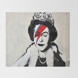 Banksy, Queen Throw Blanket