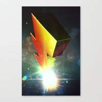 power rangers Canvas Prints featuring Mighty Morphin Power Rangers by transitoryspace