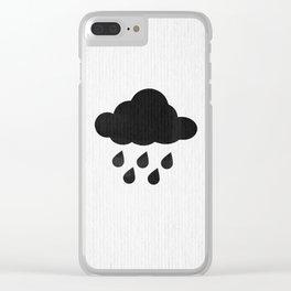 Rain cloud Clear iPhone Case