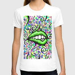 Sexy Lips Green T-shirt