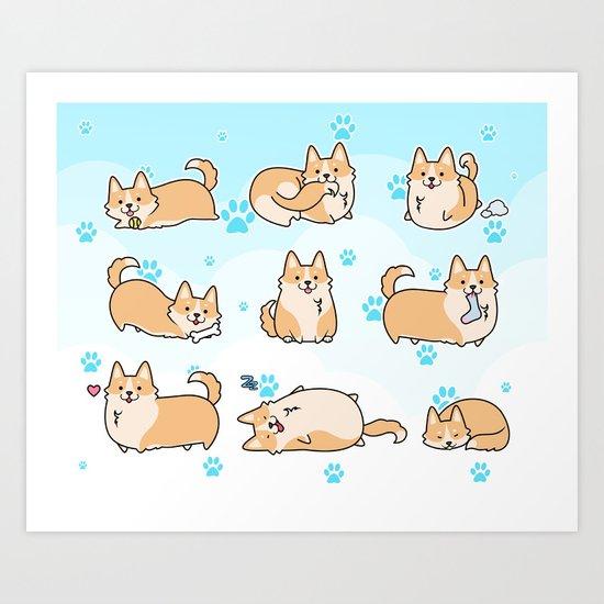 I love corgis Art Print