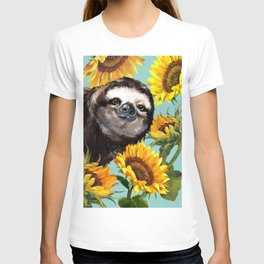Sloth with Sunflowers T-shirt