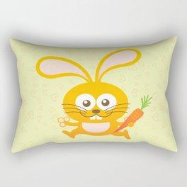 Smiling Little Bunny Rectangular Pillow